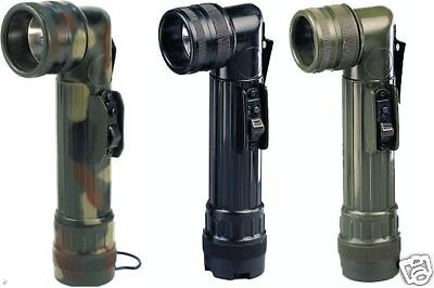 Army Style Black C-Cell Flashlights - Blk - Grn Or Camo