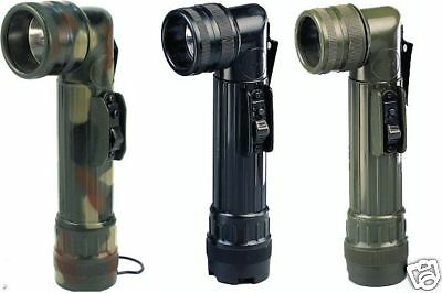 Rothco 488/489 Army Style Black C-cell Flashlights - Blk - Grn Or Camo