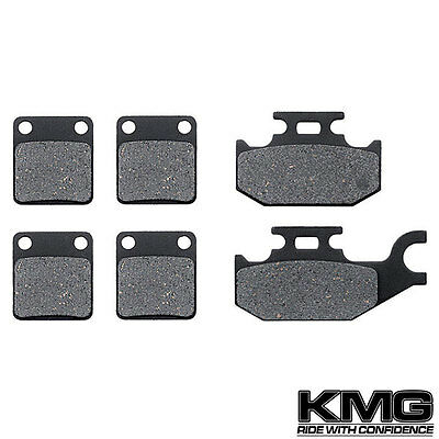 Front + Rear Carbon Kevlar Brake Pads For 2003-2004 Yamaha YFM 450 Kodiak