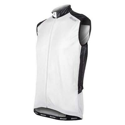 Zone Windproof CYCLING Vest in White - Made in Italy by Santini