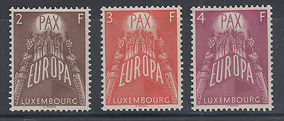 Luxembourg Sc 329-331 MNH. 1957 EUROPA-CEPT complete, VF
