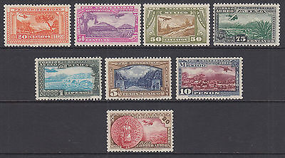 Mexico Sc C54-C61 MLH. 1934 National University, complete set, Scarce & VF