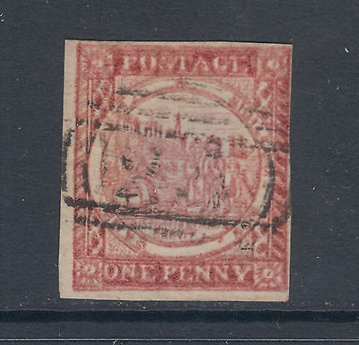 New South Wales Sc 2b var used 1850 1p Sydney View, Double Impression, Cert.