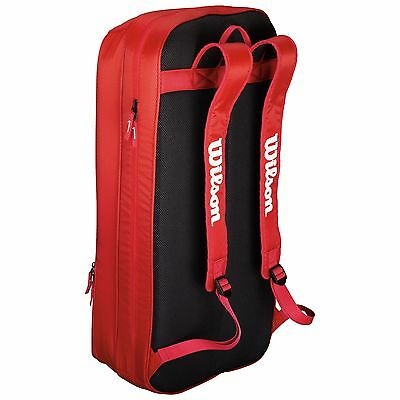 Wilson Team Badminton Practice Capacious Long Backpack with Padded Straps