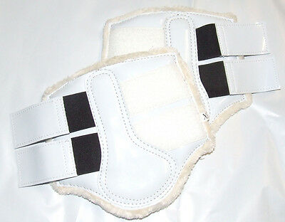 Patent White Horse Work Boots with Fleece Lining - XS