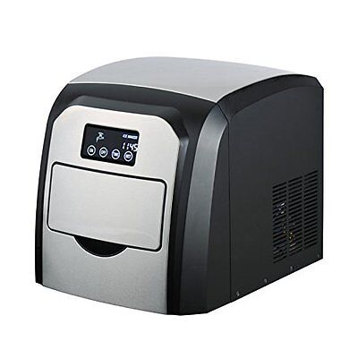NutriChef PICEM35 Ice Maker, Countertop Ice Cube Machine, LED Digital Display