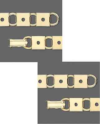 4727FD  Bracelet Base SettiGold plated Steel 10x10mm Square Link, 7.5 in,  Qty 1