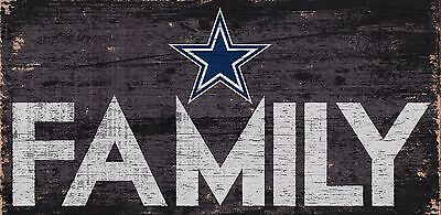 """Dallas Cowboys FAMILY Football Wood Sign - NEW 12"""" x 6""""  Decoration Gift"""