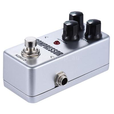 KOKKO FCP2 True Bypass Compressor Guitar Effect Pedal Portable White X7N8
