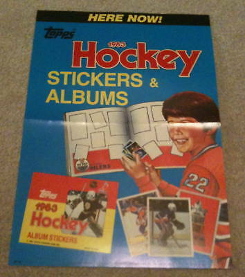 1983 Rare Topps NHL Hockey Sticker Case Topper Promo Gretzky