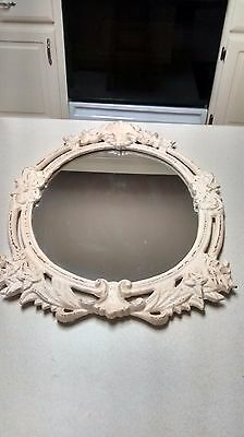 Architectural Design Metal Hanging Wall Mirror Shabby Chic Home Decor