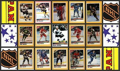 1990 Panini NHL Hockey Stickers Complete Set of 351 Modano Richter Cujo Rookie