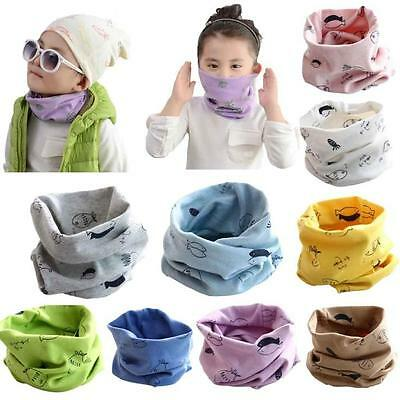 Autumn Winter Baby Scarf Cotton Boys Girls Neckerchief Head Neck Kids Scarves