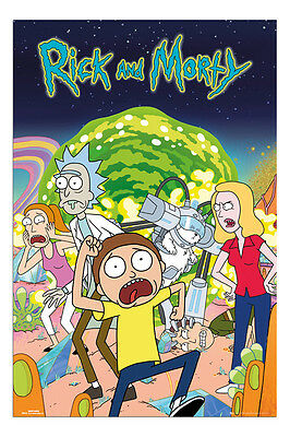 Rick And Morty Group Poster New - Maxi Size 91.5 x 61cm