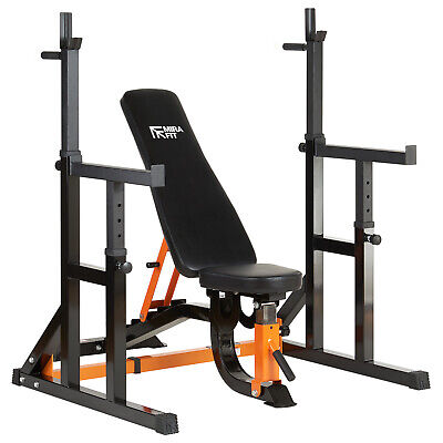 Mirafit HD Adjustable FID Weight Bench & Squat Rack/Dip Stand/Press Lifting Kit