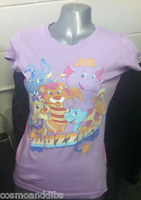 Bnwt  River Island The Wuzzles Cartoon Lilac  T-Shirt  Vintage Style Size 8