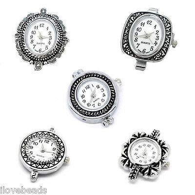 2PCs Watch Silver Tone Quartz Watch Face For DIY Finding Craft