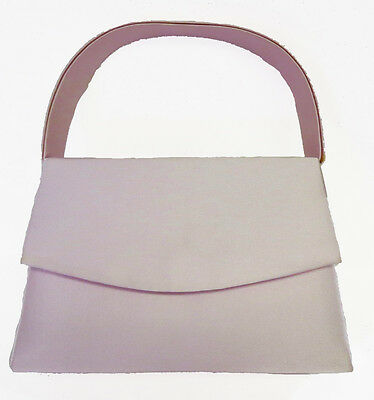 NEW Pink Ladies Satin Handbag Purse Evening Bag Wedding Formal Bridal #7120