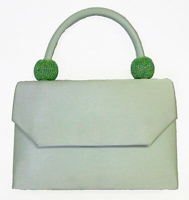 NEW Seafoam Ladies Satin Handbag Purse Evening Bag Wedding Formal Bridal #6220