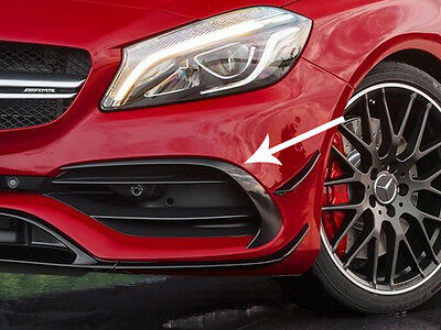 Mercedes W176 AMG A45 & AMG A Class Sport Pack Front Bumper Spoiler Flaps 2016+