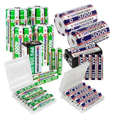 7dayshop NiMh Rechargeable Batteries AA / AAA / C cell / D cell / 9V - SAVE £££