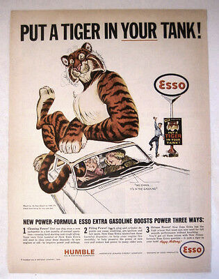 1964 Humble Oil Esso Put A Tiger In Your Tank, No Emma It's In The Gasoline - Ad