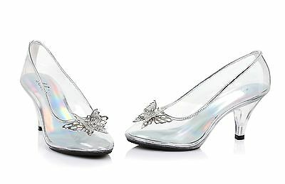 Clear Glass Slippers Cinderella Costume Shoes Wedding Princess Bridal Heels 8 9