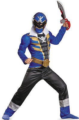 Power Rangers Super Megaforce Blue Ranger Muscle Child Costume