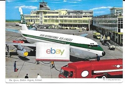 Aer Lingus Irish International Airlines Boeing 720 At Dublin Airport Postcard