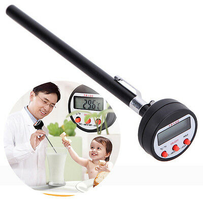 Fast Read Probe Thermometer for Oven Food Meat Grill BBQ Milk Candy Bath Water