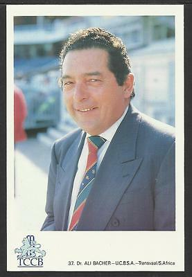 ALI BACHER -- SOUTH AFRICA. OFFICIAL TCCB  POSTCARD No. 37