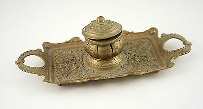 French Antique Neo Classic Bronze Inkwell Ink Well France 20s