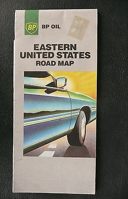 1988 Eastern United States  road  map BP  gas oil