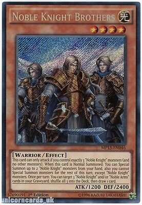 MP15-EN046 Noble Knight Brothers Secret Rare 1st edition Mint YuGiOh Card