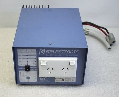 SelectronicLD600-12 600W AC - DC Sine Wave Inverter 2 Outlet Camping Caravan