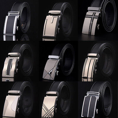Genuine Leather Waistband Fashion Waist Strap Belt Belts Automatic Buckle Men's