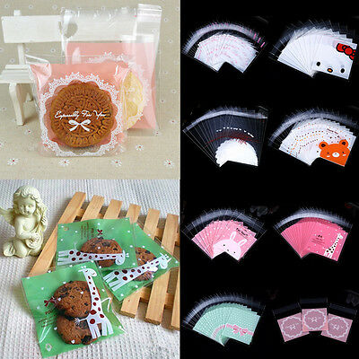 Wholesale 100pcs Handmade Cookie Jewelry Bags Favor Cello Plastic OPP Gift Bag
