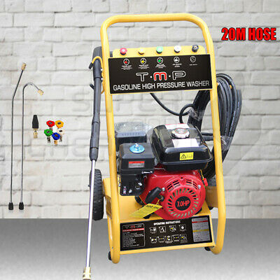TmaxPro 3200 PSI High Pressure Water Cleaner Washer Gurney 8HP Petrol 20m Hose