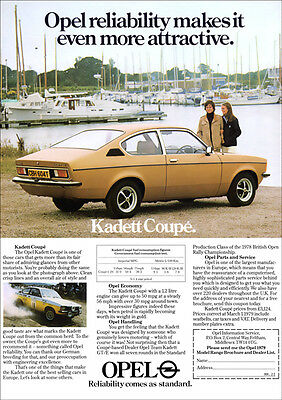 OPEL KADETT COUPE RETRO A3 POSTER PRINT FROM 70's ADVERT