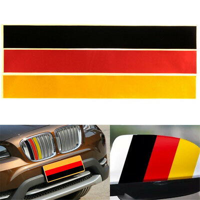 3-Color M Grille Grill Vinyl Strip Sticker Decal For BMW M3 M5 E46 German Flag