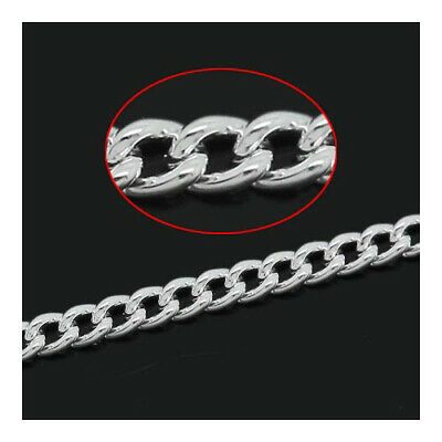 10m Aluminium Chain Necklace,Bracelet No Tarnish 11x6mm// 7x4mm UK Seller