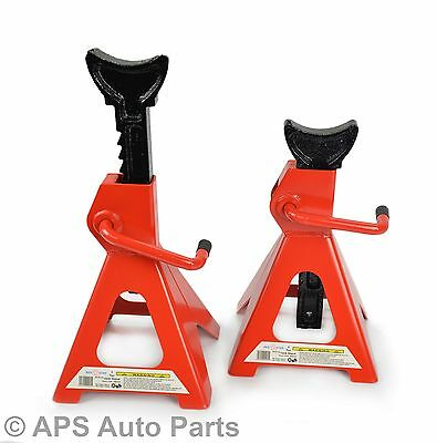 Pair of 3 Ton Tonne Heavy Duty Car Van Vehicle Axle Stands Stand Lift Saddle CE