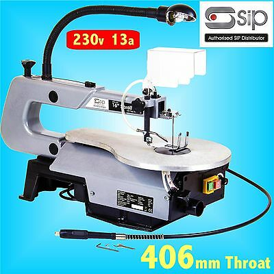 SIP 01947 406mm 16 Scroll Saw 230v With Flexi Drive Shaft scrollsaw flexible