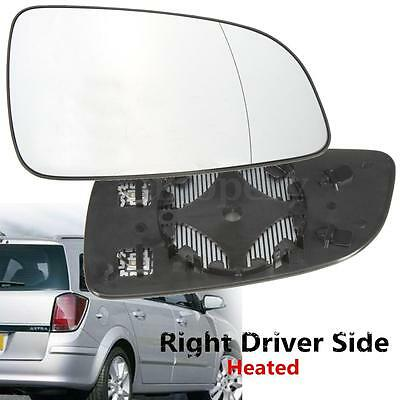 Right Driver Side Heated Wing Mirror Glass for 2004-2008 VAUXHALL ASTRA H mk5