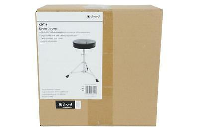 Chord 180.240 Folding Tripod Base Drum Throne Adjustable Round Detachable Seat