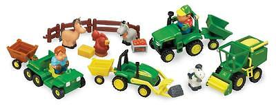 John Deere 34984A2 Fun on the Farm Soft Touch Figures 24 Piece Playset - New