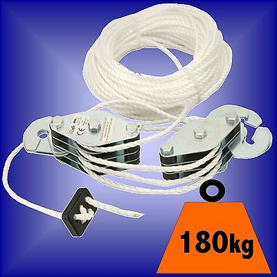 180Kg CARGO LIFTING PULLEY SET rope winch hoist puller