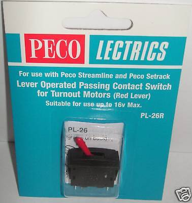 Peco PL-26R  Red Lever Operated Passing Contact. NEW  (Model Railways)