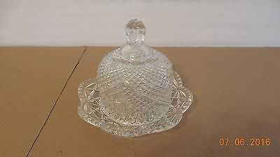 Avon Clear Glass Butter/cheese Dish With Dome Lid