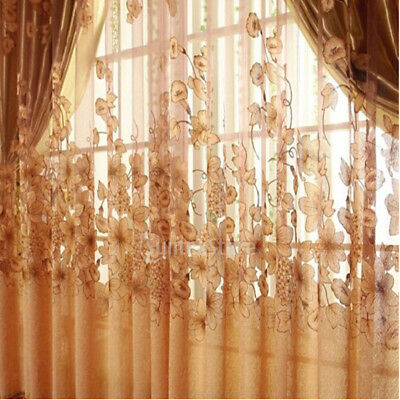 MagiDeal Ring Top Fully Lined Eyelet Curtains Balcony Voile Curtain Panel